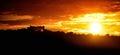 Sunset At Fort Du Mont Alban