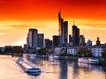 Sunset In Frankfurt