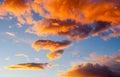 Sunset glow Royalty Free Stock Photo