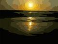 Sunset in goa Royalty Free Stock Photo