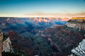 Sunset at Grand Canyon South Rim Stock Photography