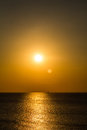 Sunset on the Gulf of Finland Royalty Free Stock Photo