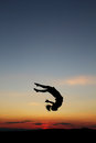 Sunset gymnast Stock Photo