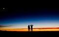 Sunset at Haleakala volcano, Maui . Royalty Free Stock Photo