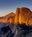 Sunset at Half Dome, Yosemite National Park Royalty Free Stock Photo