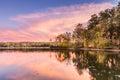 Sunset at Hamilton Lake in Arkansas Royalty Free Stock Photo