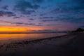 Sunset on Hawaii Beach Royalty Free Stock Photo
