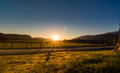 Sunset in the highlands near newtonmore scotland located Royalty Free Stock Photo