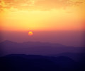 Sunset in hills Royalty Free Stock Photo