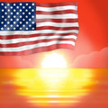 Sunset horizon america fresh design background Royalty Free Stock Photo