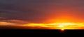 Sunset at the horizon Royalty Free Stock Photo