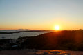 Sunset with sea view in Hvar, Croatia Royalty Free Stock Photo