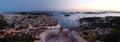 Sunset in Hvar, Croatia Royalty Free Stock Photo