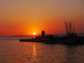 Sunset on the island Brac Royalty Free Stock Photo