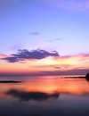 Sunset in Istria Royalty Free Stock Photo