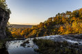 Sunset at Ithaca Falls - Ithaca, New York Royalty Free Stock Photo