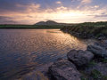 Sunset in Kerry,Ireland Royalty Free Stock Photo