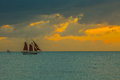 Sunset at Key West Royalty Free Stock Photo