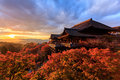 Sunset at Kiyomizu-dera Temple in Kyoto Royalty Free Stock Photo