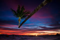 Sunset on ko tao thailand Royalty Free Stock Images