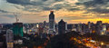The sunset of kuala lumpur is capital and largest city malaysia Royalty Free Stock Photo