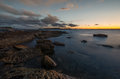 Sunset at la perouse sydney beautiful beach in Stock Images