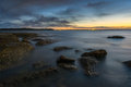 Sunset at la perouse sydney beautiful beach in Royalty Free Stock Photos