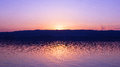 Sunset on a lake in summer period Royalty Free Stock Photo