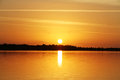 Sunset at the lake - Summer time Royalty Free Stock Photo