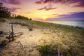 Sunset on Lake Superior Royalty Free Stock Photo