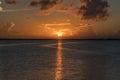 Sunset on Lake Washington, Melbourne Florida Royalty Free Stock Photo