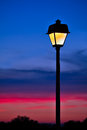 Sunset Lamppost Royalty Free Stock Photo