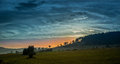 Sunset landscape above batak bulgaria Royalty Free Stock Images