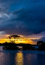 Sunset at Lough Leane in Killarney National Park in Ireland Royalty Free Stock Photo
