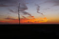 Sunset in the Louisiana Marsh Royalty Free Stock Photo