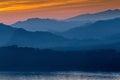 Sunset in luang prabang, laos Royalty Free Stock Photo