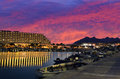 Sunset in marina of Eilat, Israel Royalty Free Stock Photos