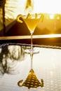 Sunset martini cocktail