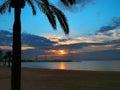 Sunset on the Mediterranean coast of Majorca Stock Photo