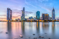 Sunset moment in Ho Chi Minh City, Vietnam Royalty Free Stock Photo