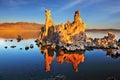 The sunset on Mono Lake Royalty Free Stock Photo