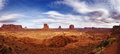 Sunset in Monument Valley Navajo Reservation Royalty Free Stock Photo