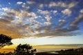 Sunset at Moonstone Beach Royalty Free Stock Photo