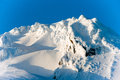 Sunset Mount Hood Cascade Range Ski Resort Area Royalty Free Stock Photo