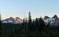 Sunset, Mount Rainier National Park Royalty Free Stock Photo
