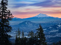 Sunset at Mt. Shasta Royalty Free Stock Photo