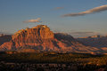 Sunset near Zion National Park, Utah, USA Royalty Free Stock Photo