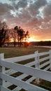 Sunset North Carolina Farm Royalty Free Stock Photo