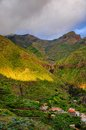 Sunset in North-West mountains of Tenerife near Masca village, C Royalty Free Stock Photo