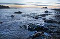 Sunset on Northwest Pacific Ocean With Rocky Coast Royalty Free Stock Photo